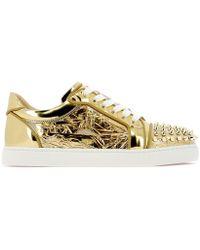 0c0d997afeb2 Lyst - Christian Louboutin Viera Spikes Sneaker in Metallic