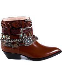 Philosophy Di Lorenzo Serafini - Buckle Strap Chain Design Boots - Lyst