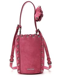 Miu Miu - Eyelet Trimmed Bucket Bag - Lyst