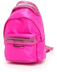 Stella McCartney - Falabella Go Leather Backpack - Lyst