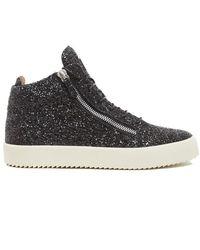 Giuseppe Zanotti - Glitter Hi Top Sneakers - Lyst