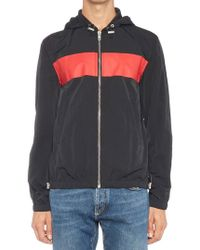 Givenchy - Stripe Logo Zip-up Hoodie - Lyst