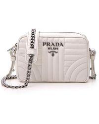 c7b5f667326003 Lyst - Prada Saffiano Leather Camera Bag in Pink