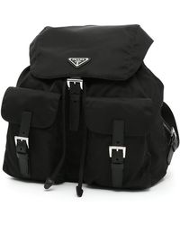 489133c41c5c Prada Classic Backpack in Black - Lyst