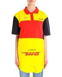 Vetements - Dhl Polo Shirt Dress - Lyst