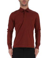 Z Zegna - Long Sleeve Polo Shirt - Lyst