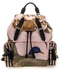 Burberry Medium Rucksack Duck Print Backpack