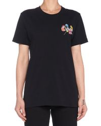 Off-White c/o Virgil Abloh - Embroidered Flowers T-shirt - Lyst