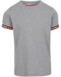 Moncler - Logo Cuffed T-shirt - Lyst
