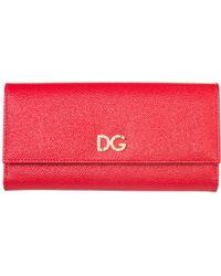 Dolce & Gabbana - Logo Foldover Wallet - Lyst