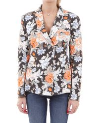 Céline - Double Breasted Floral Jacket - Lyst