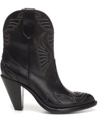 Givenchy - Cowboy Leather Ankle Boots - Lyst