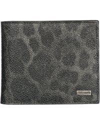 Dolce & Gabbana - Bifold Leopard Print Wallet - Lyst
