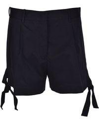 Moncler - Women's Blue Cotton Shorts - Lyst