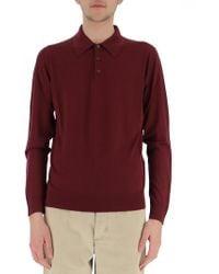 Prada - Wool Polo Shirt - Lyst