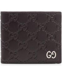 ebd06f7f8e5033 Gucci Leather Money Clip Wallet in Black for Men - Lyst