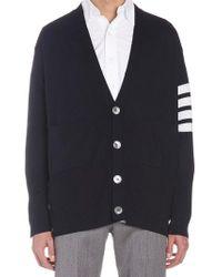 Thom Browne Oversized Striped Cardigan