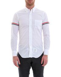 Thom Browne - Striped Sleeve Shirt - Lyst