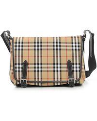 b149cfdad451 Lyst - Burberry Washed Vintage Messenger Bag in Black for Men