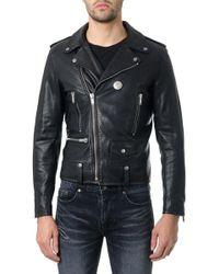 268a8b96a98 Saint Laurent Black Leather Classic Biker Jacket in Black for Men - Lyst