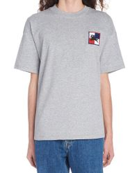Burberry - Chequer Ekd Cotton T-shirt - Lyst