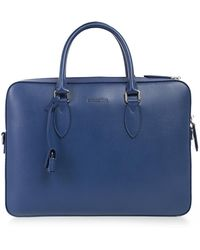 Burberry - Leather Tote Briefcase - Lyst