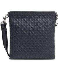 Bottega Veneta - Woven Leather Messenger Bag - Lyst