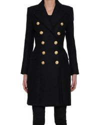 Balmain - Double-breasted Wool And Cashmere-blend Coat - Lyst