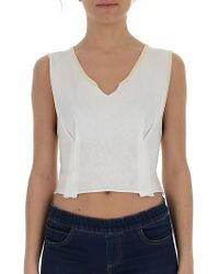 9c6763255c082d Marni - Cropped V-neck Top - Lyst