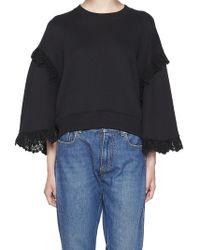9579da995d Lyst - Msgm Straps Embellished Sweatshirt in Gray