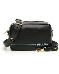 7ae764220bbb2e Prada Mirage Leather Shoulder Bag in Black - Lyst