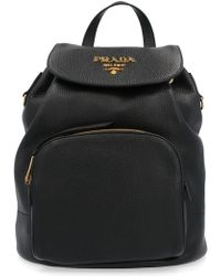 15feceeee9eaed Prada Tess Mini Backpack in Black - Lyst