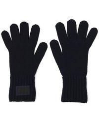 Prada - Logo Patch Gloves - Lyst