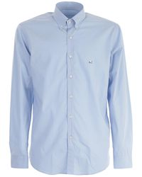 Etro - Logo Stretch Shirt - Lyst