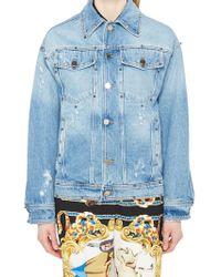 Versace - Embellished Denim Jacket - Lyst