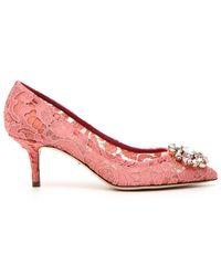 Dolce & Gabbana - Bellucci Embellished Lace Pumps - Lyst