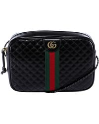 d796876ca00 Gucci Merveilles Crossbody Bag Snake Print Black in Black - Lyst