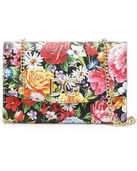 Lyst - Dolce   Gabbana Rose Print Mini Crossbody Bag 77a624ccf3163