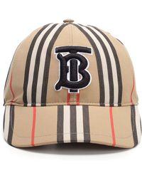 2c3e9e7928d Burberry - Icon Stripe Logo-embroidered Cotton Baseball Cap - Lyst