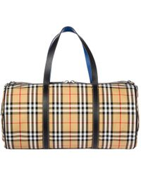 Burberry - Large Vintage Check Duffle Bag - Lyst