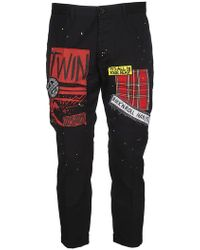 DSquared² - Patchwork Trousers - Lyst