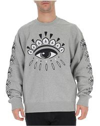 cf60ca9872db KENZO Eye Logo Sweatshirt in Black for Men - Lyst