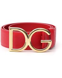 Dolce & Gabbana - Logo Buckle Belt - Lyst