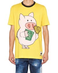 Dolce & Gabbana - piggy Bank Print T-shirt - Lyst