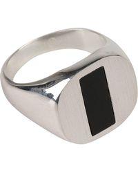 Maison Margiela - Contrast Detail Ring - Lyst