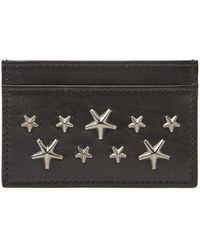 Jimmy Choo - Dean Star Studded Card Holder - Lyst