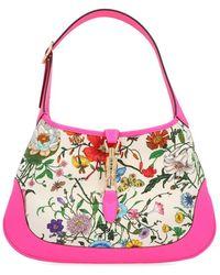 Gucci - Jackie Medium Floral Shoulder Bag - Lyst