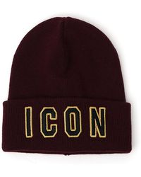 Dsquared² Icon Beanie in Black for Men - Lyst 48ca9ea37d70
