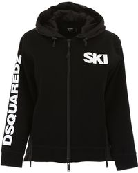 DSquared² - Logo Zip-up Hoodie - Lyst