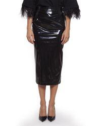 N°21 - Vinyl Pencil Skirt - Lyst